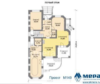 Проект дома M149, 408 м2