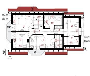 Проект  Дом в ананасах 2, 166.5 м2
