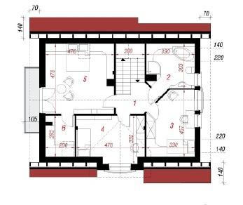 Проект  Дом в люцерне, 133.3 м2