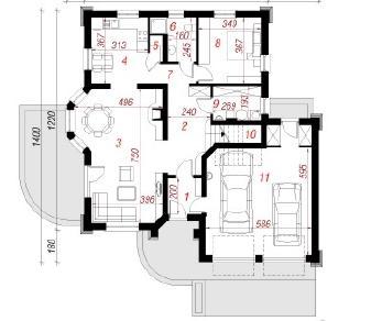 Проект  Дом в дуброве (Г2), 146.7 м2