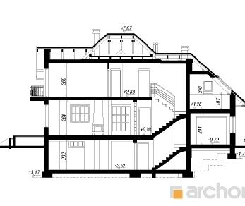 Проект  Дом в вербене П, 205.6 м2