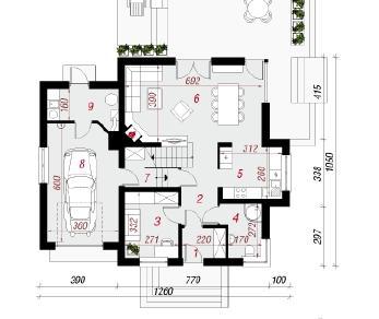 Проект  Дом в абрикосах 3, 173.3 м2