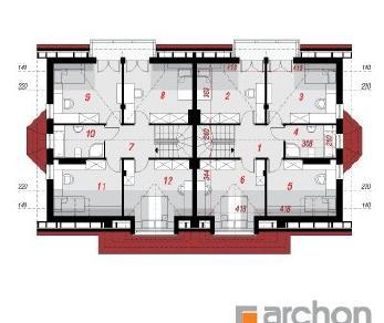 Проект  Дом в клематисах 4 (P2), 276.68 м2