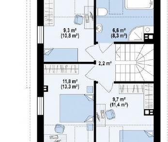 Проект дома Проект Z290, 102.7 м2