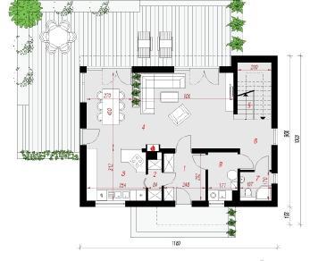 Проект  Дом в кротонах, 162.9 м2