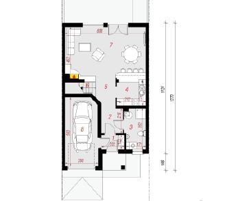 Проект  Дом в клематисах 12 (С), 139.8 м2