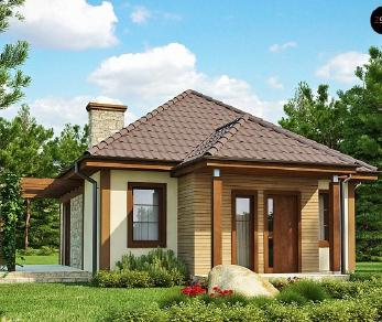 Проект дома Проект Z73, 50.1 м2