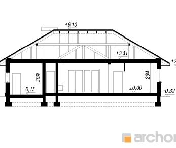 Проект  Дом в акебиях 3, 117.1 м2