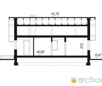 Проект  Дом под папайей 2, 74.7 м2