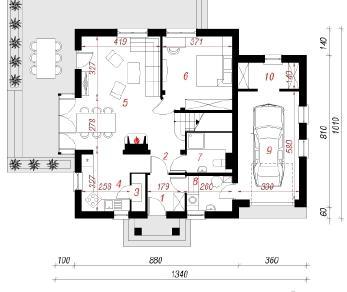 Проект  Дом в рододендронах 5 (Н), 172.7 м2