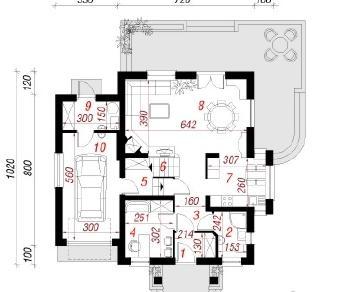 Проект  Дом в абрикосах, 138.9 м2