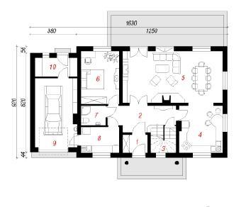 Проект  Дом в гладиолусах, 202.3 м2