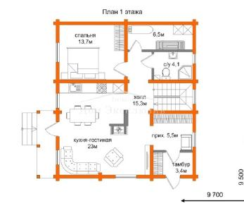 Проект дома Проект ДН-174/2, 135 м2