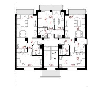 Проект  Дом у бульвара 9 (Б), 483.9 м2