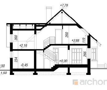 Проект  Дом в тамарисках, 134.9 м2