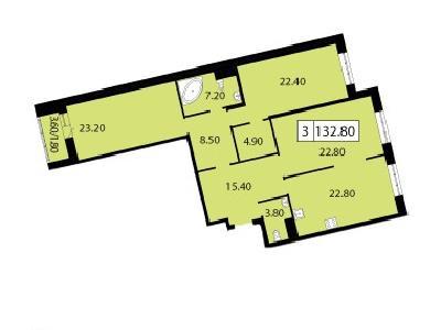Продажа элитной квартиры 132.8 м2 в новостройке, Смоленская ул., д.14 - №104705