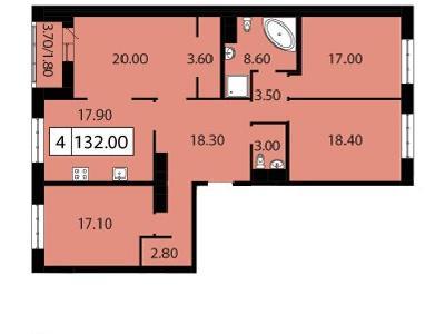 Продажа элитной квартиры 132 м2 в новостройке, Смоленская ул., д.14 - №104695