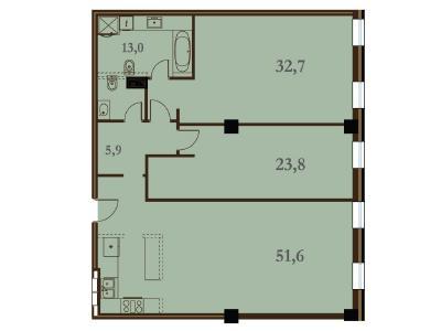 Продажа квартиры 127 м2 Конногвардейский бул., д.5
