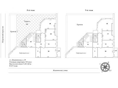 Продажа квартиры 333 м2 Ждановская ул., д.29