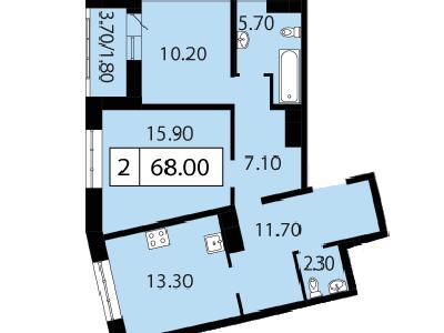 Продажа элитной квартиры 68 м2 в новостройке, Смоленская ул., д.14 - №104683