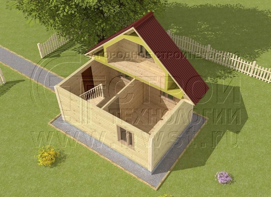 Дачный домик своими руками 5х5 47