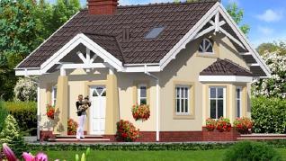 Проект  Дом в ромашках 2, 62.2 м2