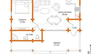 Проект  Проект Д-68, 68.6 м2