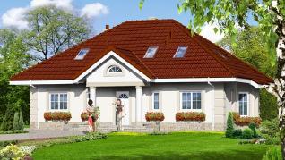 Проект  Дом под красной рябиной 5, 161.4 м2
