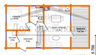 Проект дома Проект ДН-123, 95.7 м2