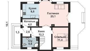 Проект дома AS-2243, 138 м2