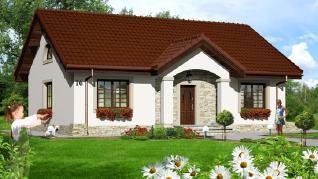 Проект  Дом в газаниях, 91.5 м2