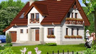 Проект  Дом в резедах, 134.4 м2