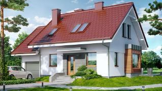 Проект  Дом в перловнике 3, 113.28 м2