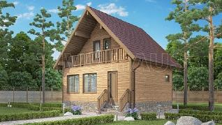 Проект  Дом-баня двухэтажная, 84 м2