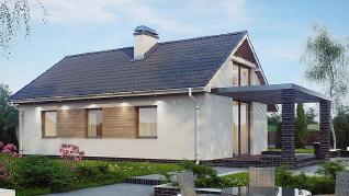 Проект дома Проект Z139, 61.2 м2
