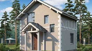 Проект  Проект дома 6х6 с мансардой - ЭТЮД, 60 м2