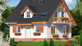 Проект  Дом в землянике 3 (П), 147.5 м2