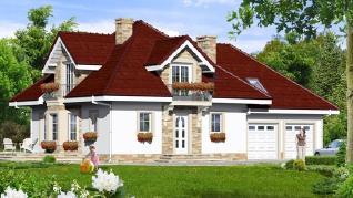 Проект  Дом в нектаринах (Г2), 192 м2