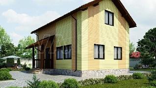 Проект  Дом 6 на 9 с мансардой - КОДА, 112 м2