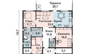 Проект дома AS-2237, 119 м2