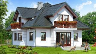 Проект  Дом в ванили, 139.5 м2