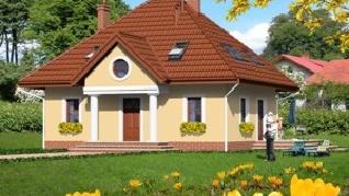 Проект  Дом в клубнике, 130 м2