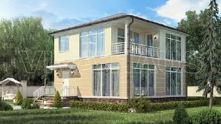 Проект  Проект каркасного дома 9х9 с мансардой - КВАРТА , 136 м2