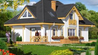 Проект  Дом в фуксиях 3, 134.9 м2