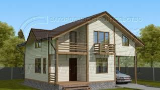 Проект дома Проект дома №125, 47.6 м2