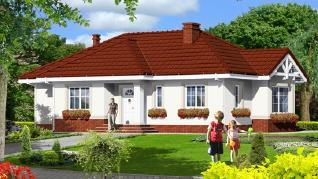 Проект  Дом в вереске, 94.72 м2