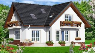 Проект  Дом на горке 5, 180.4 м2