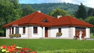 Проект  Дом в настурциях , 185.9 м2