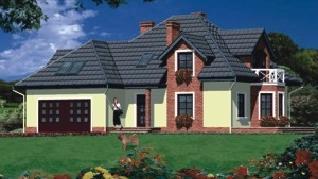 Проект  Дом в петуниях, 209.6 м2