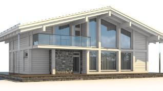 Проект  Проект загородного дома Tall 223, 368 м2